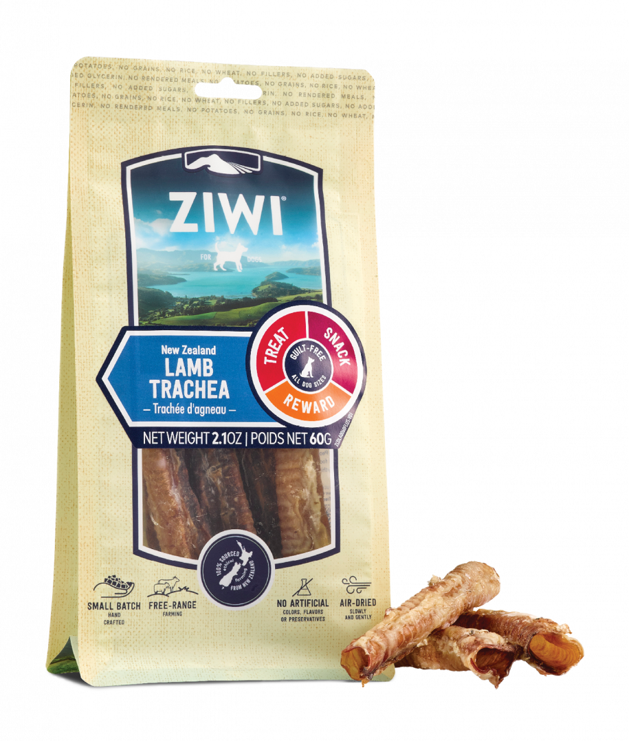 ZIWI Lamb Trachea Chew with Product Side Angle