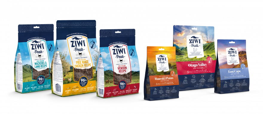 ZIWI Peak Air-dried cat food recipe family