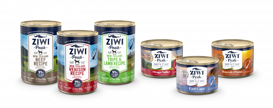 ZIWI Peak Wet Dog Food Recipe Family