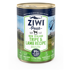 Ziwi Peak Tripe & Lamb Dog Can 390g Front View