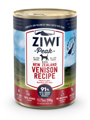 Ziwi Peak Venison Dog Can 390g Front View