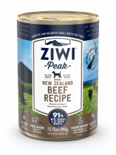 Ziwi Peak Beef Dog Can 390g Front View