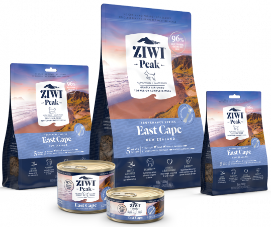 Ziwi Provenance Range - Provenance Family of Cat and Dog Food - East Cape